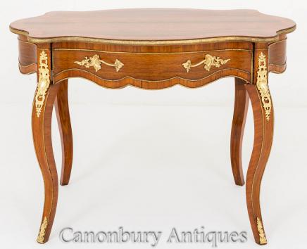 French Empire Walnut Centre Table 1860