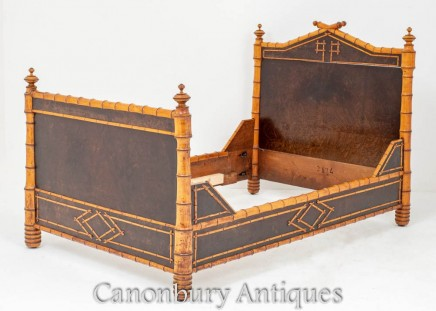 French Regency Bamboo Bed Interiors