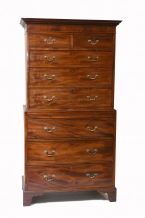 Georgian Chest on Chest Mahogany Antique 1820