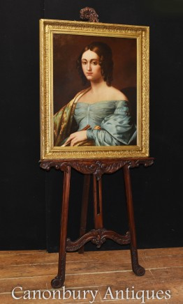 Georgian Oil Painting Female Portrait Signed