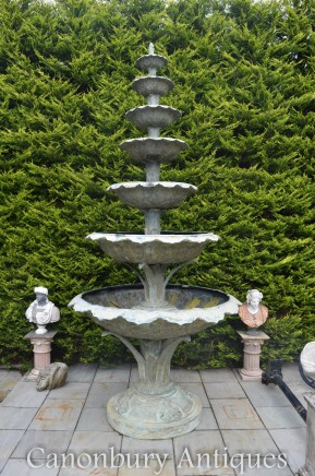Giant French Bronze Fountain - Cascading Art Nouveau Water Feature 6 Metres