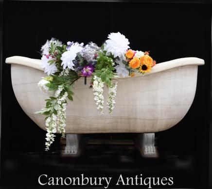 Giant White Italian Carrara Marble Roman Bath Tub