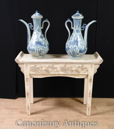 Imperial Chinese Bone Console Table Hand Carved China Interiors