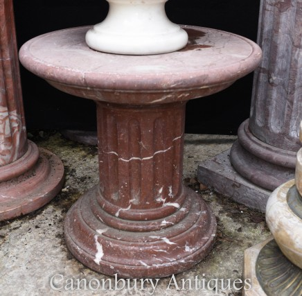 Italian Marble Pedestal Column Table Stand