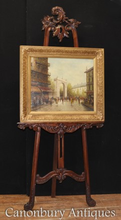 Italian Oil Painting Triumphal Arch Cityscape Signed Rome