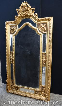 Large English George II Gilt Pier Mirror