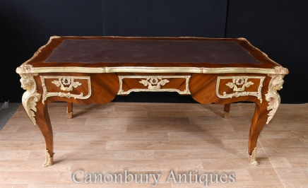 Empire Bureau Plat Desk - Large French Writing Table
