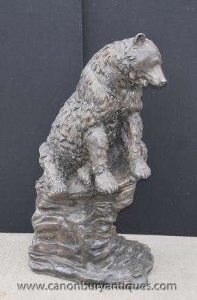 Lifesize Bronze American Brown Bear Statue Casting