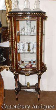 Louis XVI Glass Vitrine Display Cabinet Jewellery Case Bijouterie