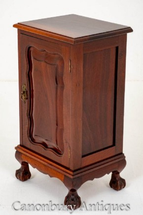 Mahogany Chippendale Bedside Chest Nightstand