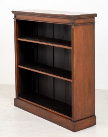 Mahogany Open Front Bookcase - Antique Victorian 1880