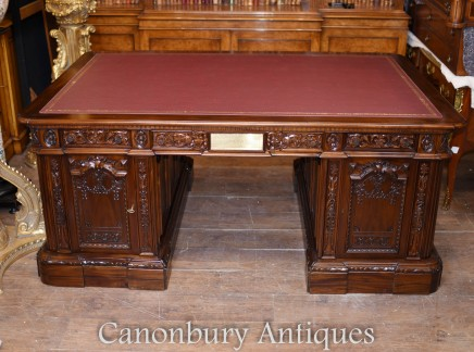 Mahogany Presidents Desk  - Resolute Partners Desk White House
