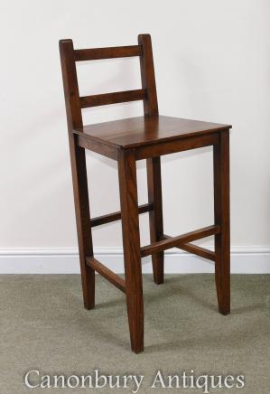 Oak Farmhouse Kitchen Bar Stool