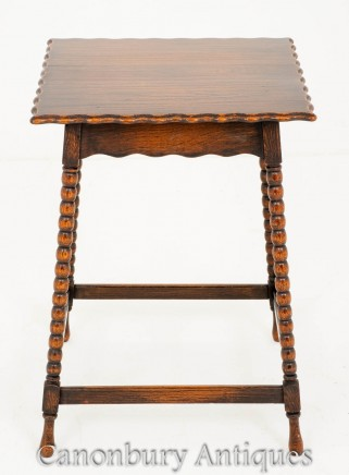 Oak Occasional Square Table - Farmhouse Furniture