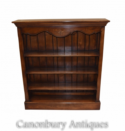 Oak Open Bookcase Farmhouse Bookcases