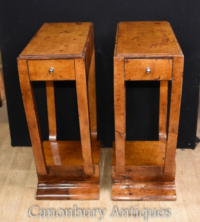 Pair Art Deco Side Tables - Vintage Interiors