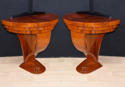 Pair Art Deco Console Tables Hall Table 1920s