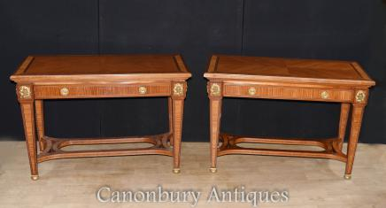 Pair French Empire Console Tables Circa 1890