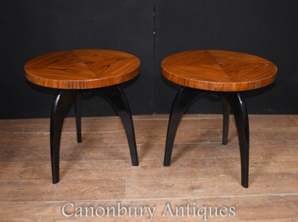 Pair Mid Century Modern Side Tables - Deco Cocktail Table