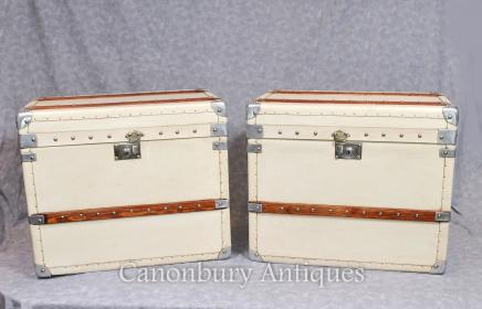 ea62c2abe0f9a Steamer Trunk Tables - Canonbury Antiques - Luggage Boxes End Side ...