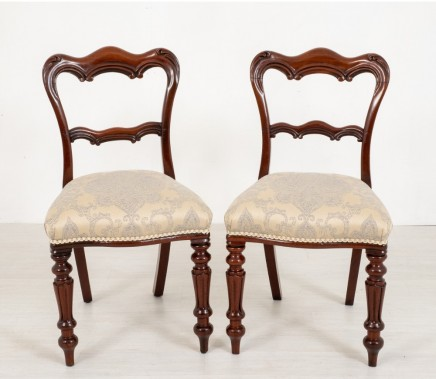 Pair William IV Chairs - Antique Mahogany Chair