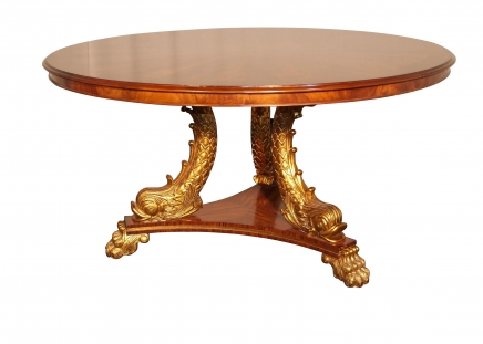 Regency Centre Table Gilt Serpent Leg Dining Furniture
