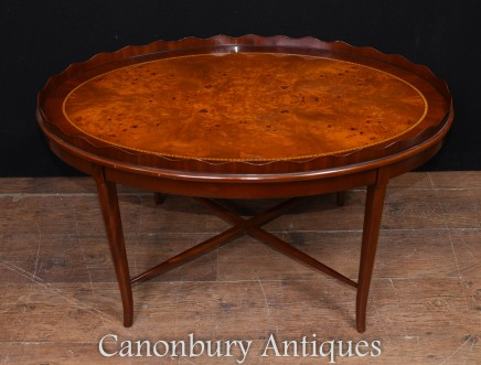 Regency Coffee Table Walnut Scallop Gallery