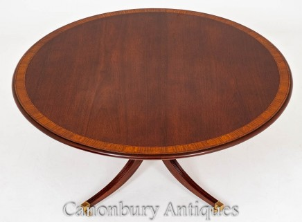 Regency Dining Table - Round Centre Table Mahogany