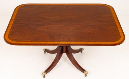 Regency Flame Mahogany Breakfast Table Antique Tables