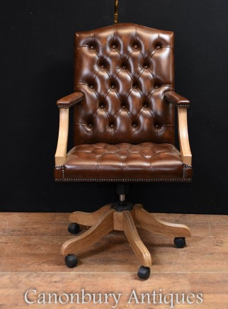 Regency Gainsborough Desk Chair - Swivel Office Arm Chairs Deep Button