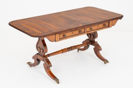 Regency Library Table Antique Rosewood Desk