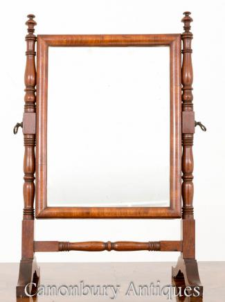 Regency Mahogany Toilet Mirror - Dressing Cheval Mirrors