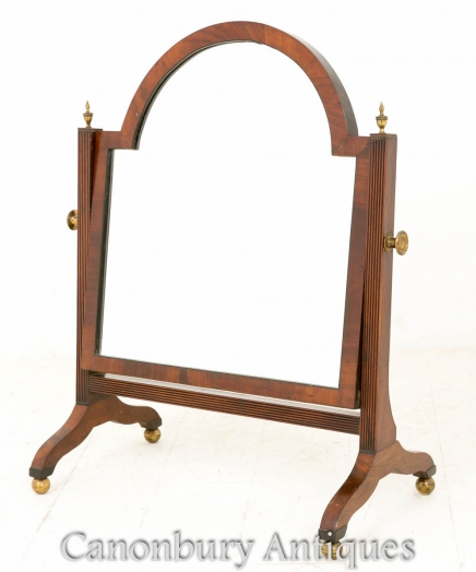 Regency Mahogany Toilet Mirror Cheval