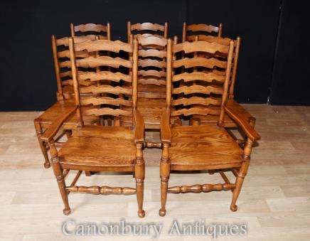 Ladderback Chairs Farmhouse Kitchen