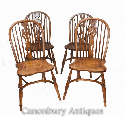 Set Windsor Chairs - Oak Farmhouse Kitchen Diners