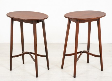Sheraton Revival Side Tables - Antique Occasional Furniture 1890