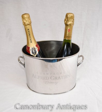 Silver Plate Champagne Bucket Epernay Alfred Gratien