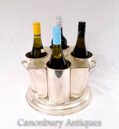 Silver Plate Wine Cooler French Champagne Bucket