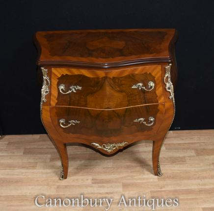 Single French Bombe Commode Chest of Drawers Empire