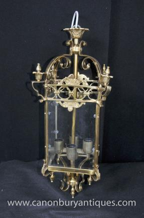 Victorian Brass Lantern Chandelier Sconce Light