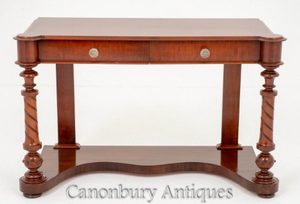 Victorian Antique Console Table in Mahogany Circa 1860