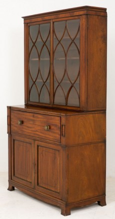 Victorian Cabinet - Flame Mahogany Antique 1870