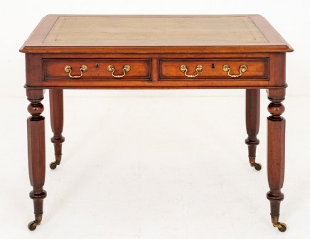 Victorian Desk Antique Mahogany Writing Table 1860