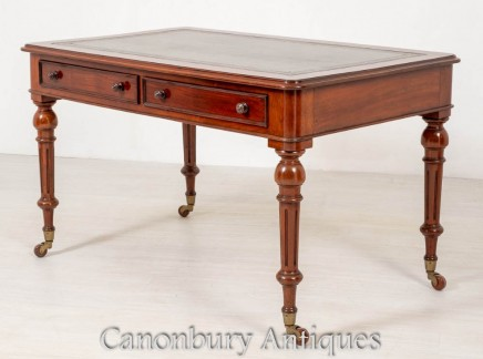 Victorian Desk Mahogany - Antique Writing Table 1850
