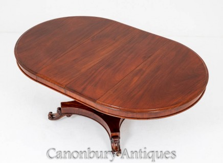 Victorian Dining Table - Mahogany Extending Circa 1850