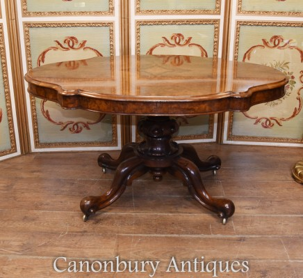 Victorian Dining Table Walnut Centre Tables 1860