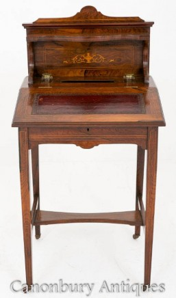 Victorian Ladies Writing Table Desk - Circa 1880