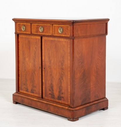 Victorian Mahogany Cabinet Antique Chest 1860