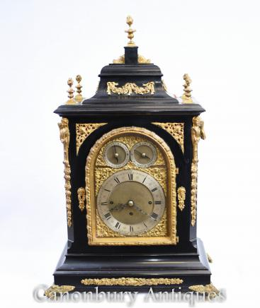 Victorian Mantel Clock Westminster Chimes Carriage Time
