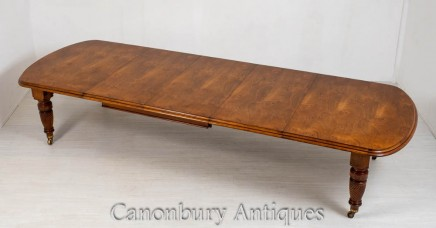 Victorian Oak Dining Table - Extending Aesthetic Movement 1880